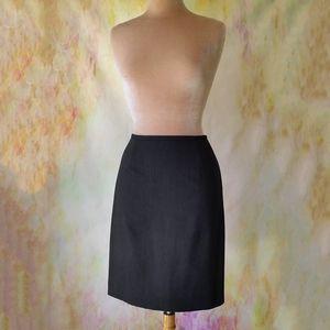 ANN TAYLOR PETITES Pinstripe Wool Skirt Sz 10P